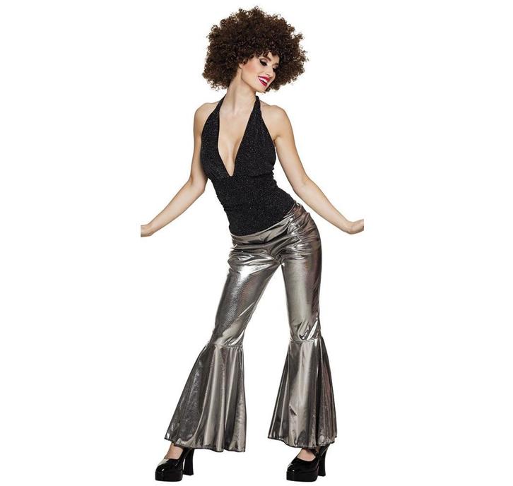 Disco Flare Broek Zilver | Dameskostuum