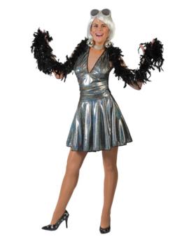 Disco Dolly  | Zilver Holografisch | Dameskostuum