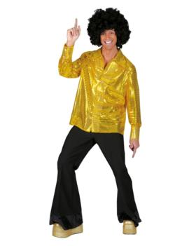 Gouden Glitterhemd |Herenkostuum