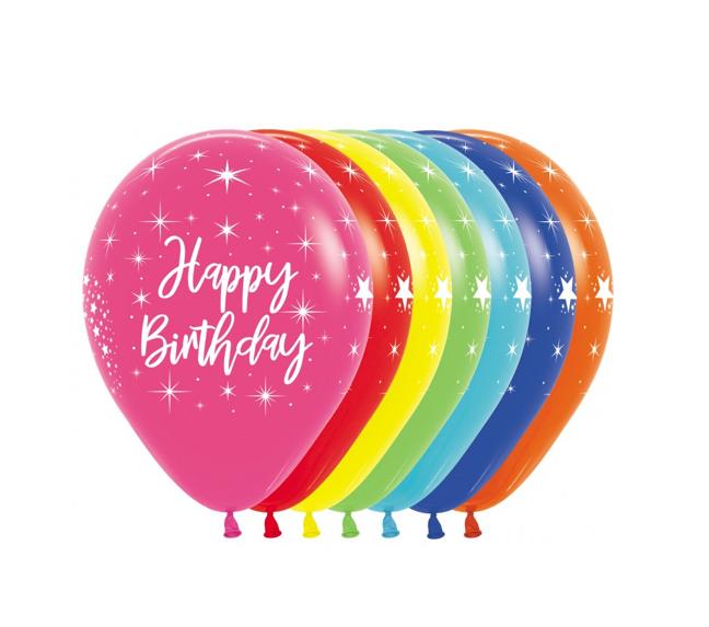 Happy Birthday 12 inch | 12 Stuks | Multicolor