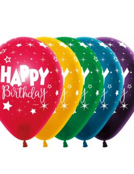 Happy Birthday 12 inch | 8 Stuks |  Multicolor