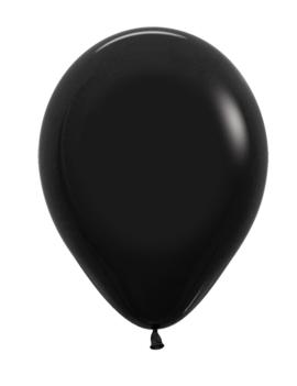 Zwart |  Ballonnen 12 Stuks