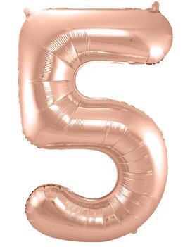 Cijfer 5  Folieballon Rosé Gold | 86cm