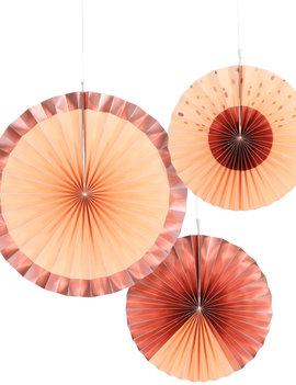 Honeycomb Waaiers |  Peach/Rosé | Elegant Lush Blush