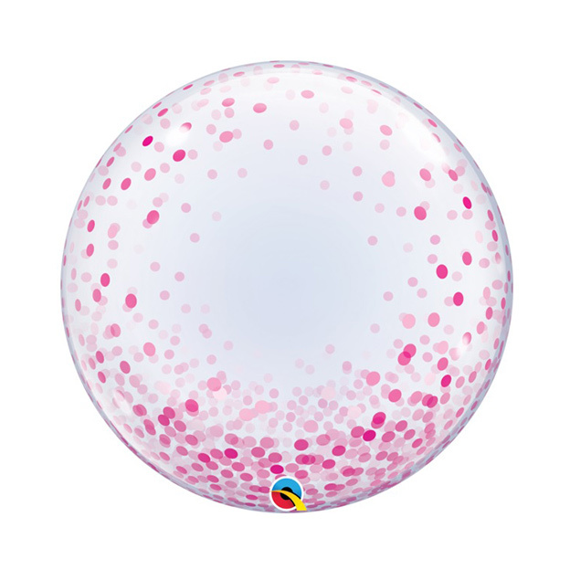 Bubble Ballon Roze Dots | 60cm