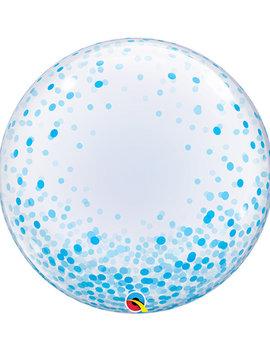Bubble Ballon Blauw Dots | 60cm