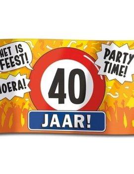 Gevelvlag  XXL | 40 Jaar Party Time? | 150cmx90cm