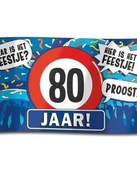 Gevelvlag  XXL | 80 Jaar Hoera! | 150cmx90cm