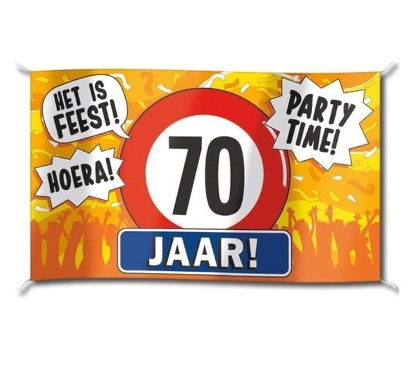 Gevelvlag  XXL | 70 Party Time! | 150cmx90cm