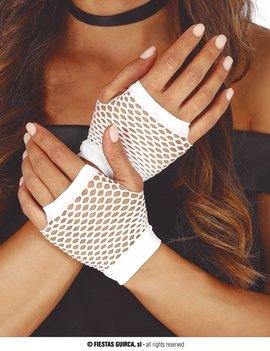 Korte Vingerloze Handschoenen | Wit | Nethandschoenen
