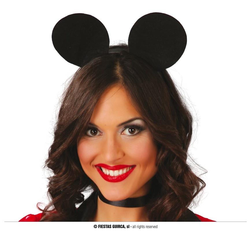 Diadeem Mickey Mouse   Muizenoortje Zwart