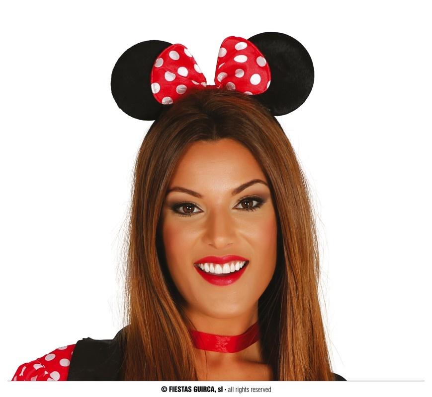 Diadeem Minnie Mouse   Muizenoortje Met Strik