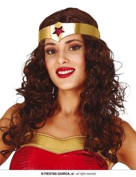 Wonder Woman |  Pruik Met Haarband