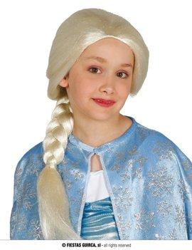Frozen Elsa Pruik | Blond met vlecht