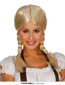 Tiroler Tina Pruik | Blond met vlechtjes