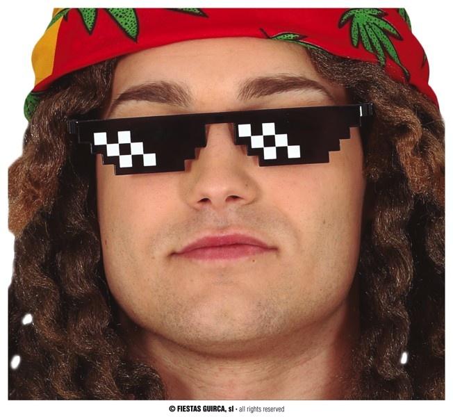 Pixel Planga   Bril Zwart