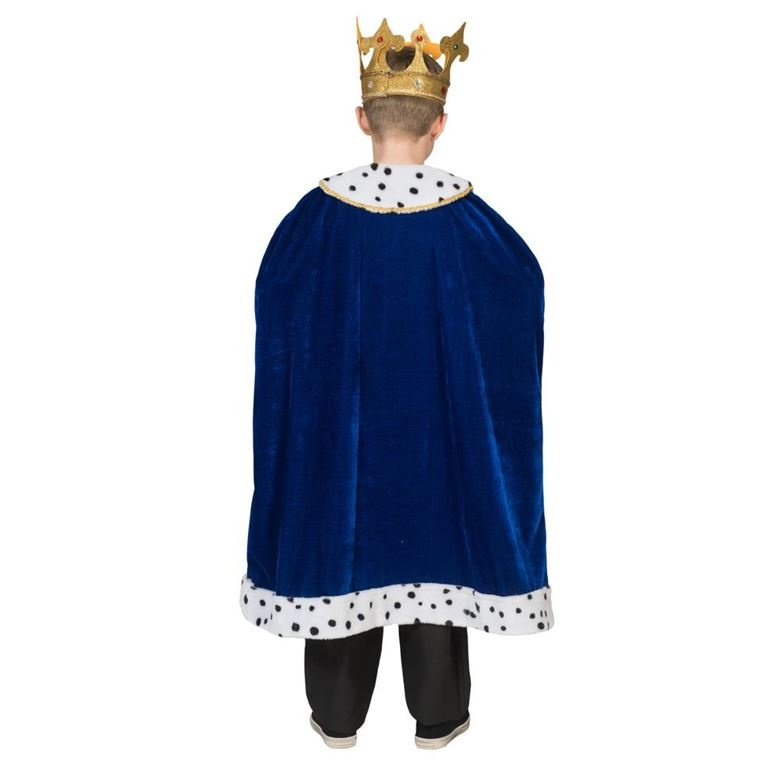 Koningsmantel Blauw | Kinderkostuum