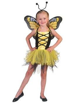 Gele Vlinder | Kinderkostuum  + Vleugels