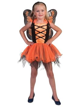 Oranje Vlinder | Kinderkostuum  + Vleugels