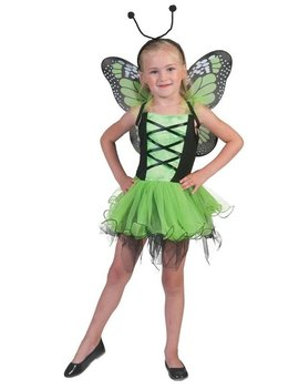 Groen Vlinder | Kinderkostuum  + Vleugels