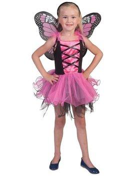 Roze Vlinder | Kinderkostuum  + Vleugels