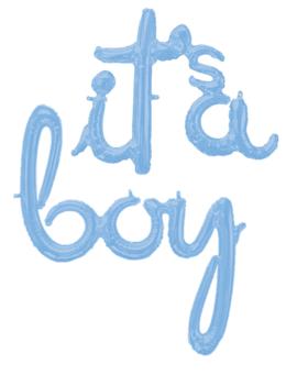 Folieballon Script | It's a  boy