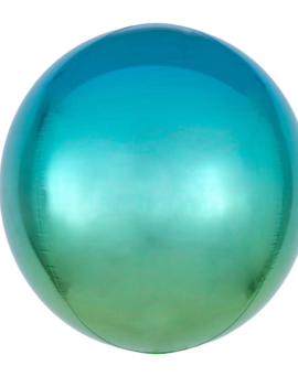 Orbz Blauw/ Groen Ballon | 38cm