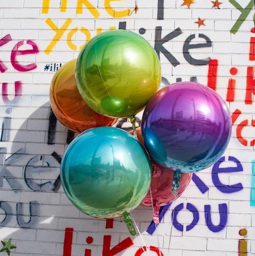 Orbz  Paars/ Blauw Ballon   38cm