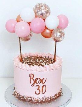 Ballonnen Taarttopper Set | Roze/Rosé