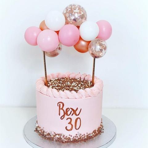 Ballonnen Taarttopper Set   Roze/Rosé