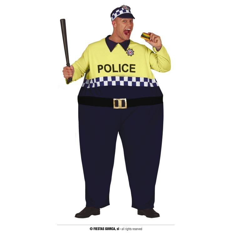 Big Politieagent Funny Kostuum