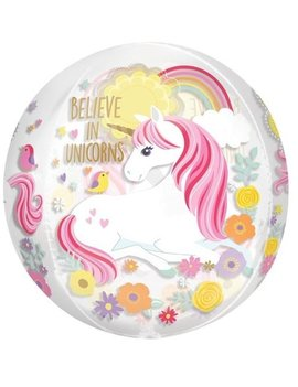 Orbz Unicorn | Transparant Ballon - 41cm