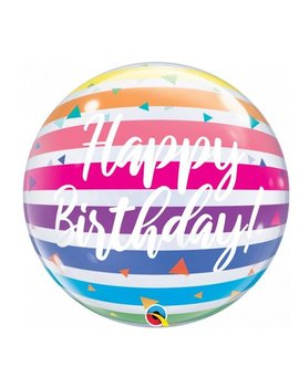 Bubble Happy  Birthday Rainbow | Ballon - 55cm