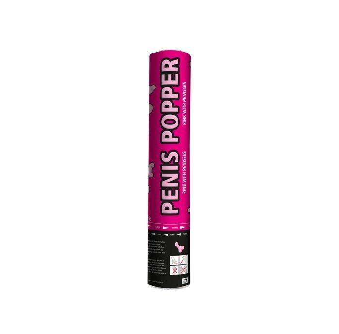 Confettikanon Roze Penis   Piemel Party Popper