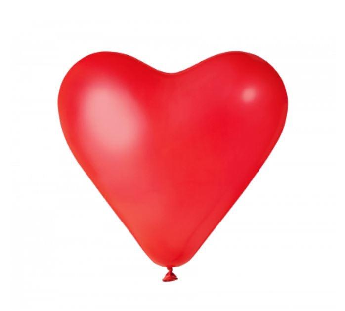 Rode Hartjes   Ballonnen 6 Stuks