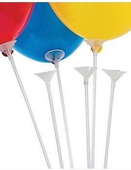 Ballonstokjes + Cups | 12 Stuks