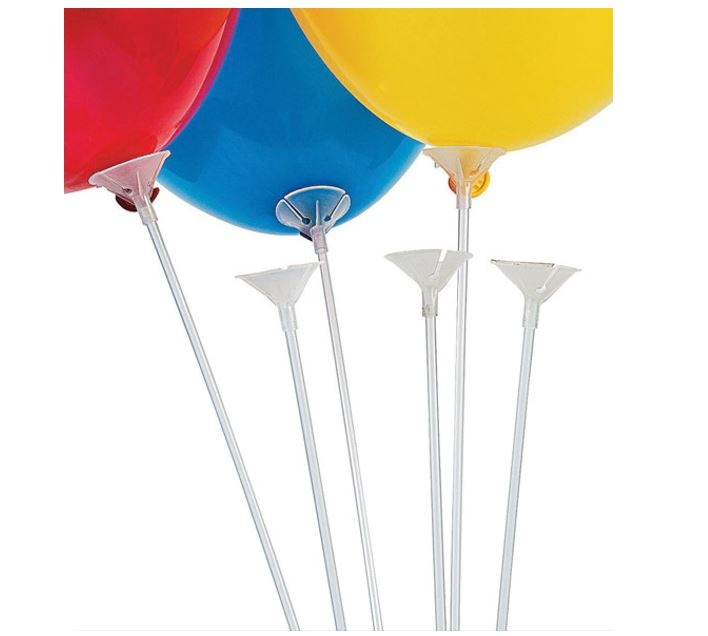 Ballonstokjes + Cups   12 Stuks