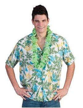 Hawaiihemd Groen/Wit | Kostuum