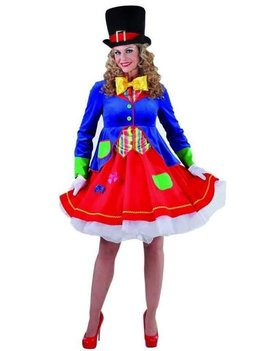 Gekke Clown/ Kleedje | Dameskostuum