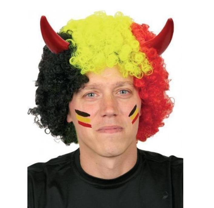 Pruik België met Duivelsoortjes