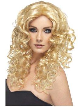 Glamour Girl Pruik | Lang Krullend | Blond
