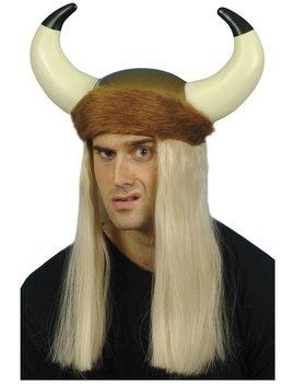 Vikinghelm Met Pruik | Blond