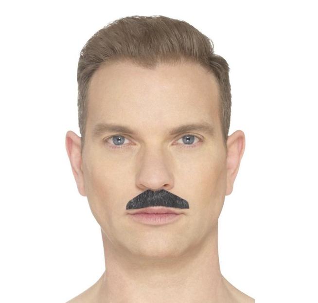 Moustache/ Snor Chevron   Zwart