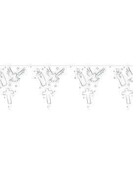Vlaggenlijn Communie | Wit/Zilver