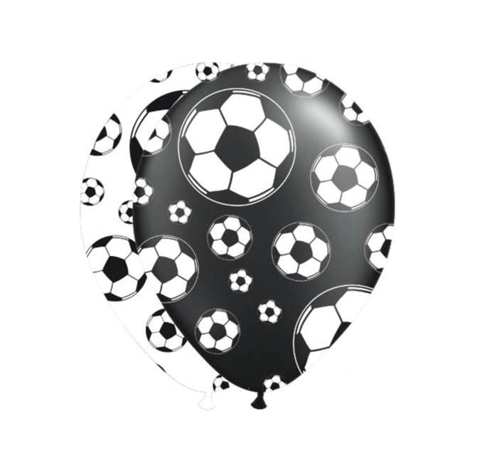 Ballonnen Voetbal | 8 Stuks Zwart/Wit