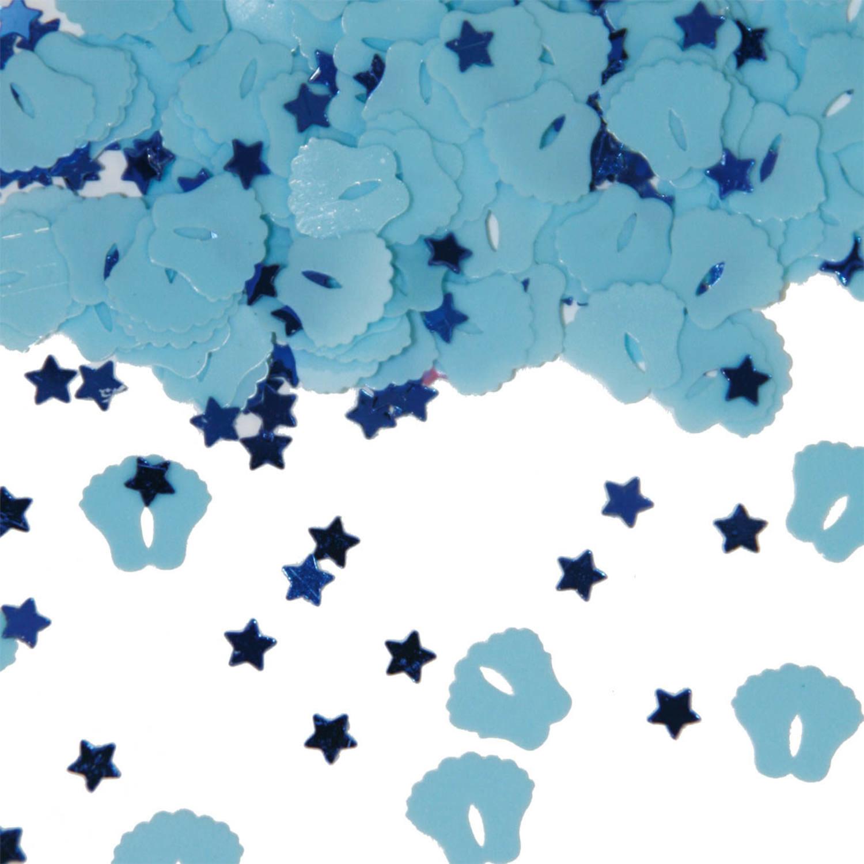 Blauw Tafelconfetti Voetjes   Geboorte Jongen
