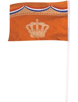 Vlag Nederland Kroon | Oranje 100cm x 150cm