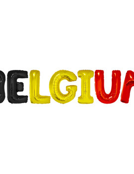 Letter Ballonnen Belgium |  Belgische Kleuren