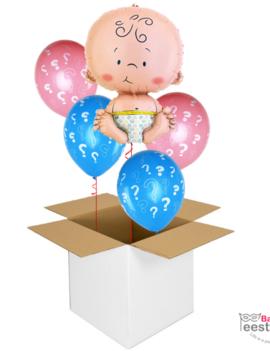 Verstuur - een - Ballonbox | Baby Folie Bekendmaking