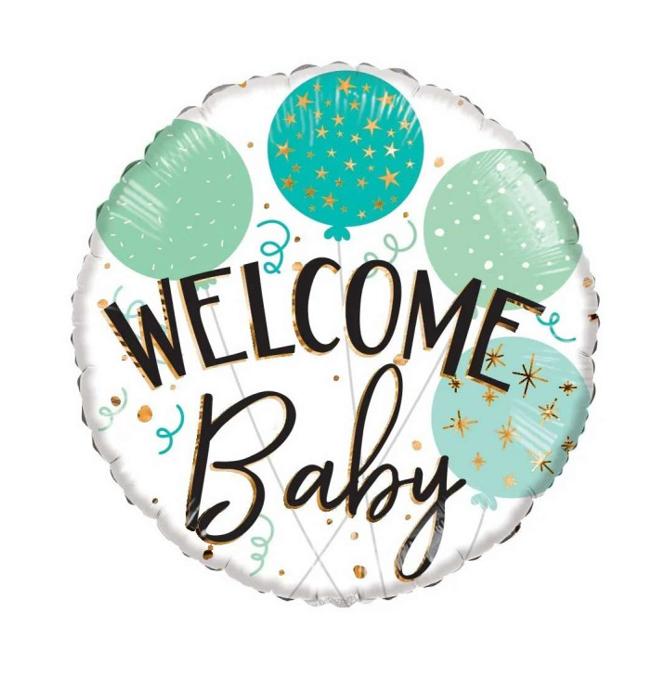 Folieballon Baby    Welcome Baby   18inch